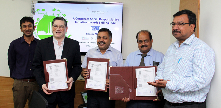 MoU signed between NTPC, NSDF and NSDC