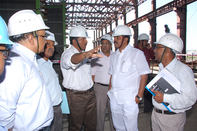 Shri K. C. Venugopal visited Vallur Project
