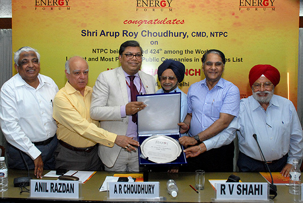 CMD Felicitated by India Energy Forum