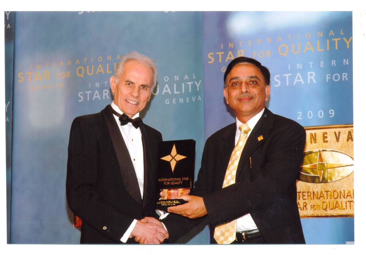 NTPC receiving awrad for International Gold Star for Quality Award 2009